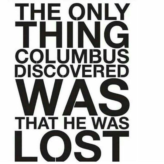 Columbus day Lines