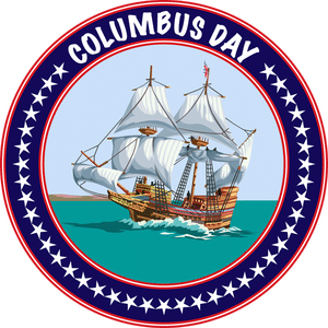 Columbus day Logo
