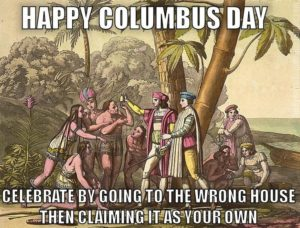 Columbus day Painting