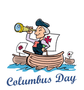 Columbus day cartoon