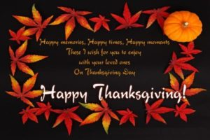 2017 Thanksgiving Day Greetings