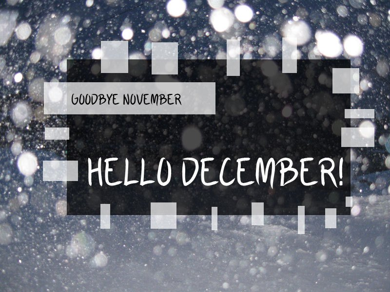 Bye November Hi December Images