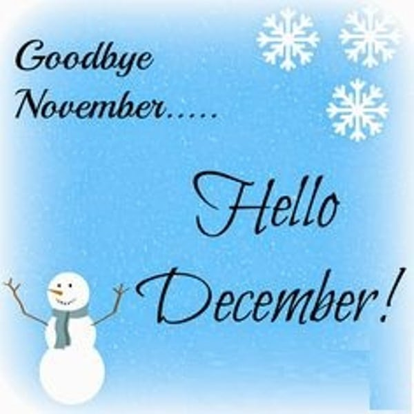 Bye November Hi December Quotes