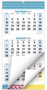December 2017 January 2018 Calendar