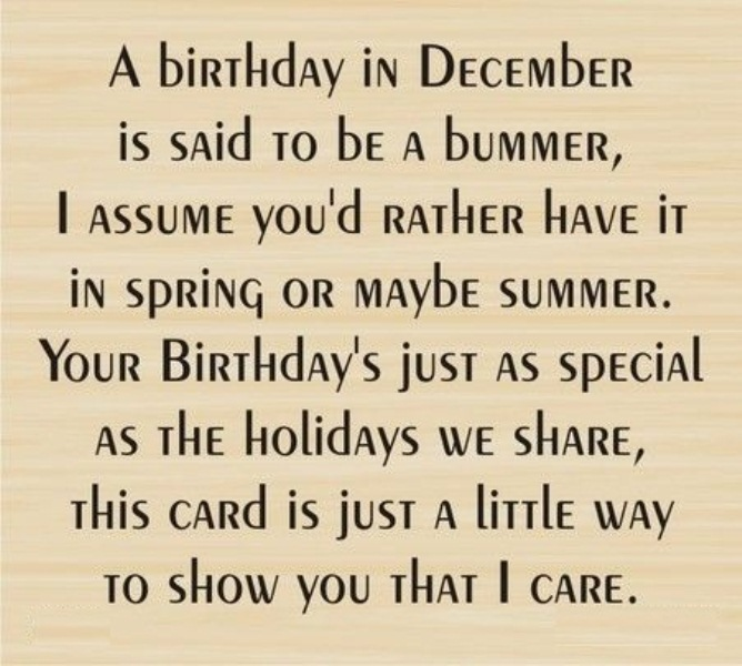 December Birthday Month Quotes Oppidan Library