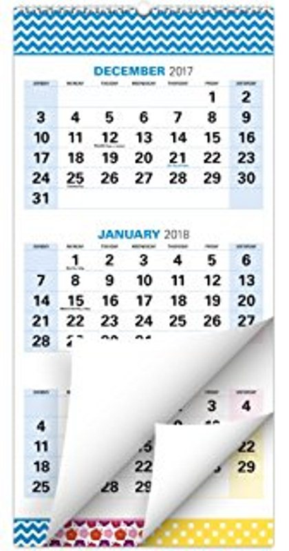 January 2018 December 2017 Printable Calendar Template