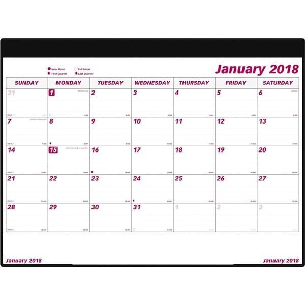 Moon 2018 January Calendar