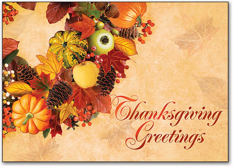 Thanksgiving Greetings Cards 2017