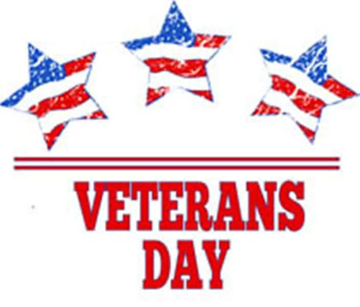 Three Star Veterans Day Clipart