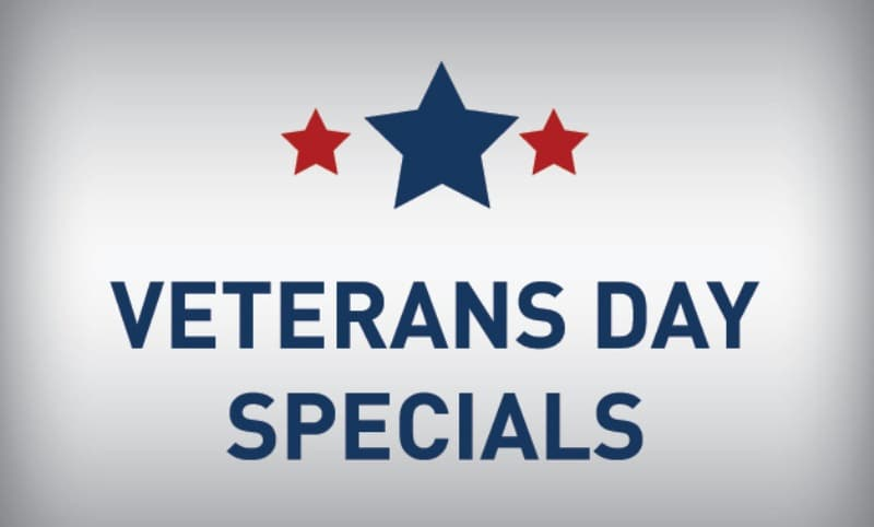 Veterans Day Specials