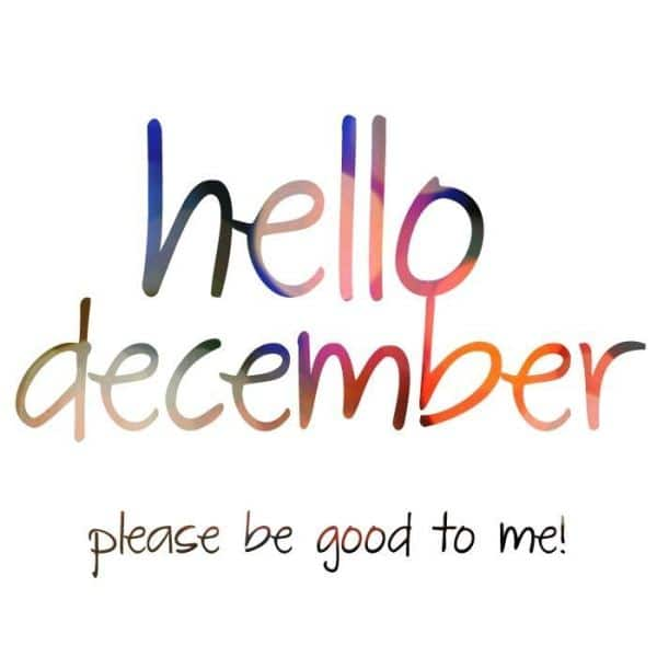 Welcome December Images