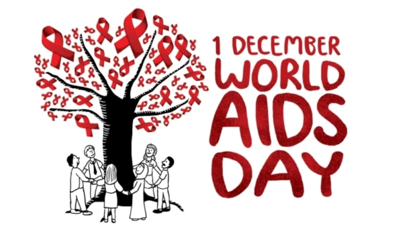 World AIDS Day Red Ribbon 1 December
