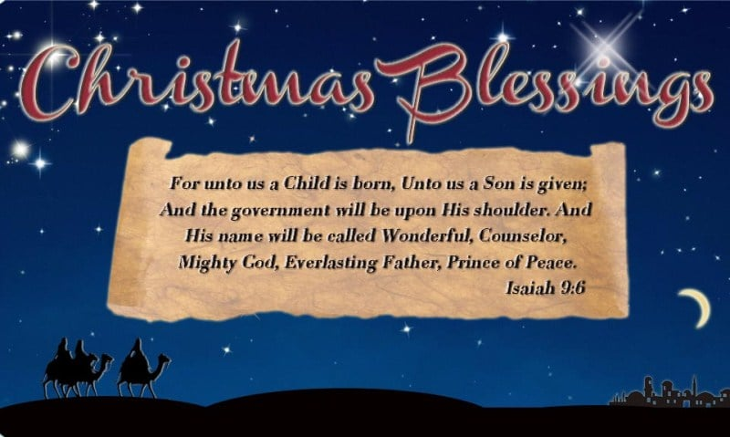 Christmas Day 2017 Blessings