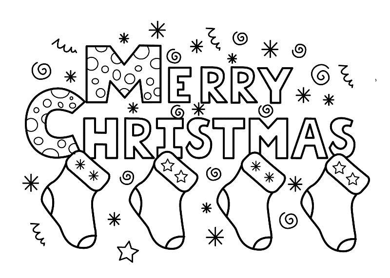 Christmas Day Drawings Print