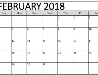 February 2018 Calendar Printables images