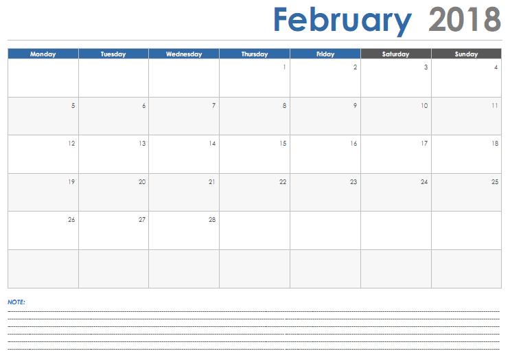 Calendar February 2018 images