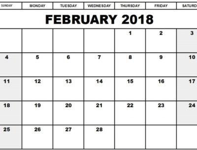 February 2018 Calendar downloadable