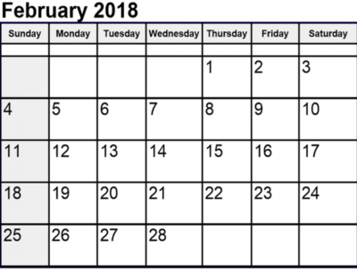February 2018 Printable Calendar free quote