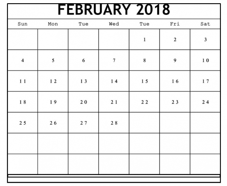 February 2018 Printable Calendar images for free