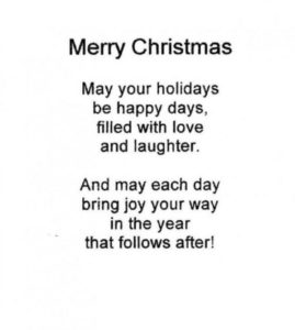 Funny Christmas Poems For Kids