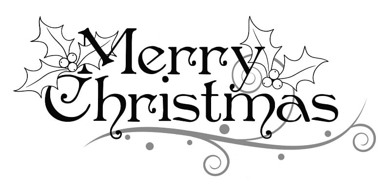 Happy Christmas Drawings Black and White