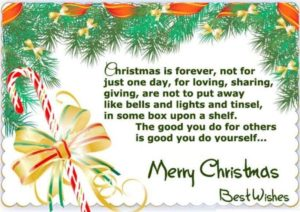 Happy Christmas Poems For Friends