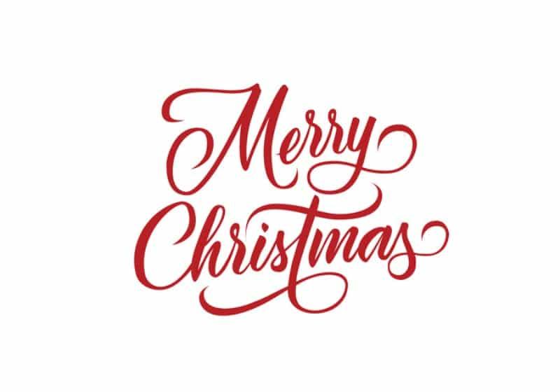 Happy Christmas Vector Font
