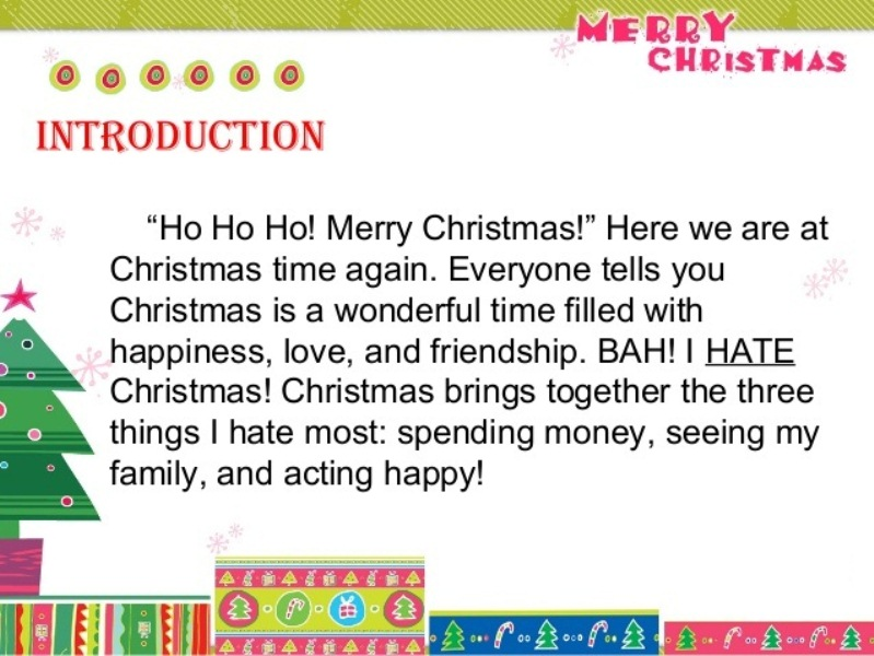 Ordinaire Merry Christmas Essay In English