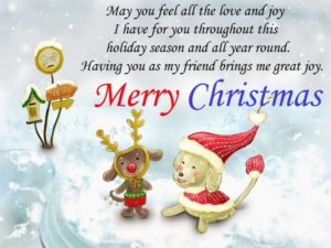 Merry Christmas SMS for Cards