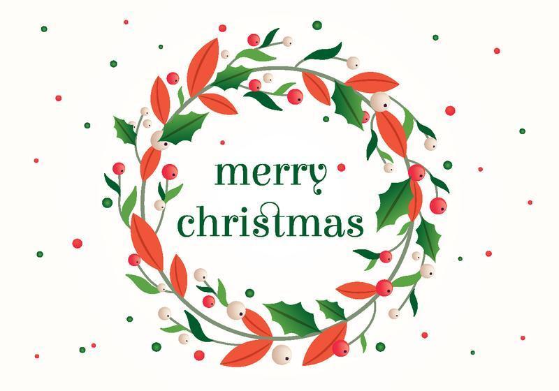 Merry Christmas Vector Art font