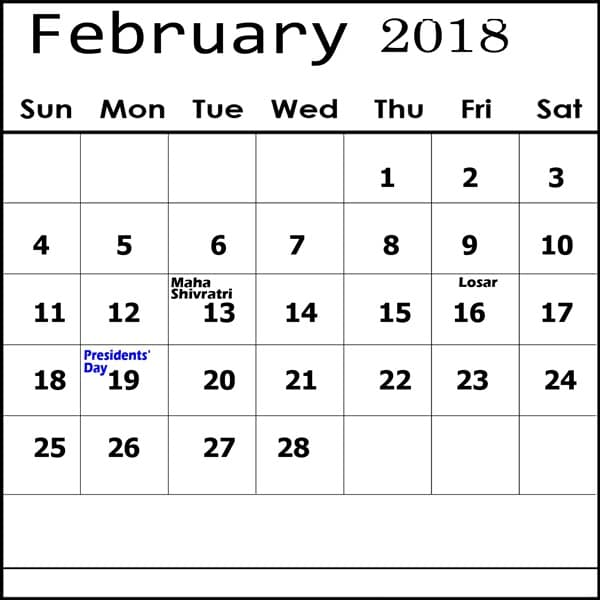 2018 Kalnirnay February Calendar Marathi
