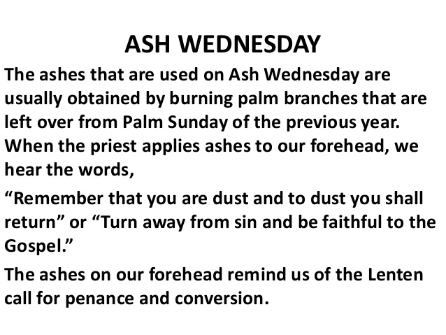 Ash Wednesday Messages in English