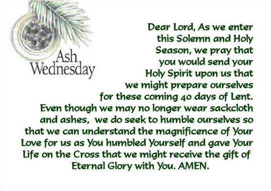 Ash Wednesday catholic Messages