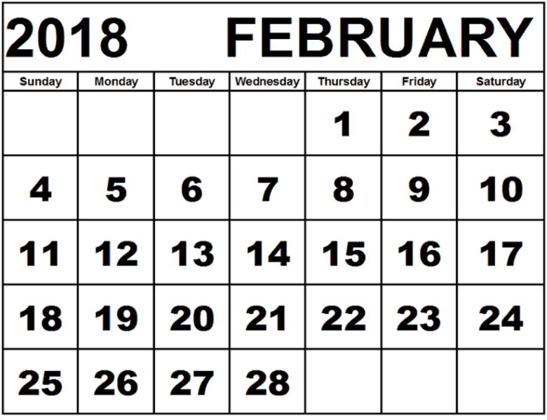 Calendar February 2018 free images