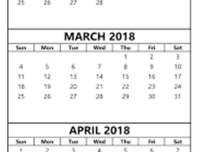 February March 2018 Calendar Printable