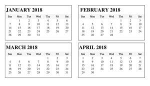 February March Calendar 2018 Printable