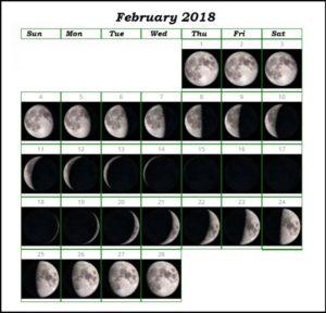 Full Moon February 2018 Calendar