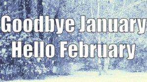 Goodbye January Hello February Images