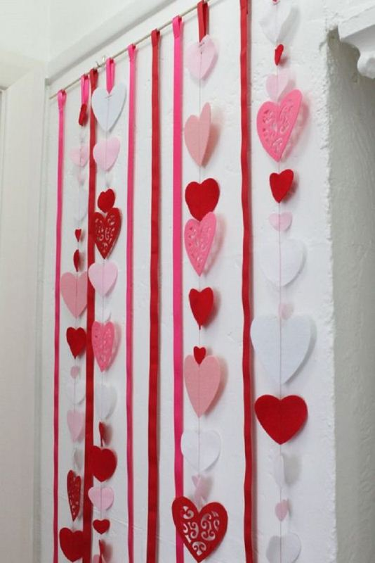 Happy Valentine's Day Decorations Heart Love