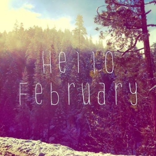 Hello February Images Printable