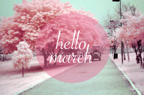 Hello March Images Template