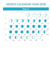 March 2018 Lunar Calendar