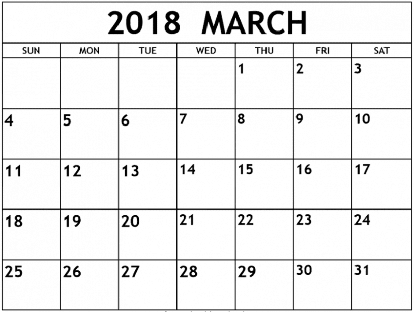 photograph relating to Calendar March Printable called March 2018 Printable Calendar Template Quotation Visuals High definition Totally free