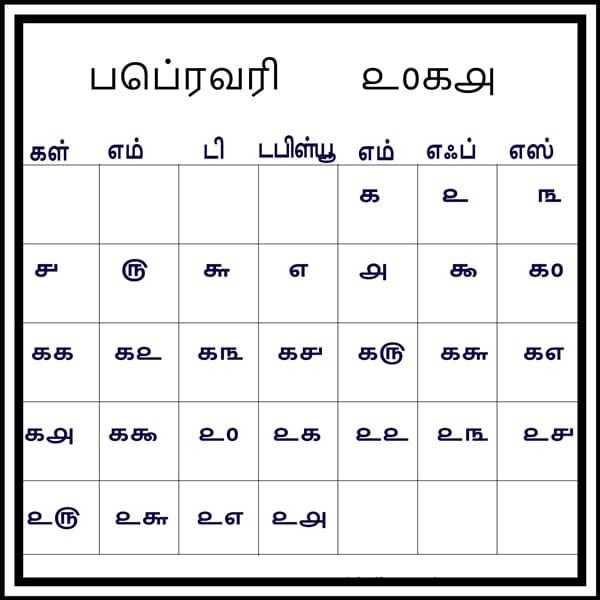 Tamil Calendar February 2018