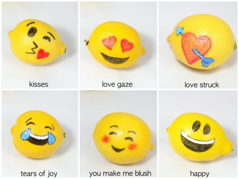 Valentine's Day Emoji With Lemons