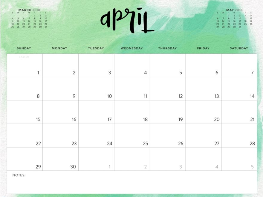 April  Printable Calendar Pdf  Free Hd Images