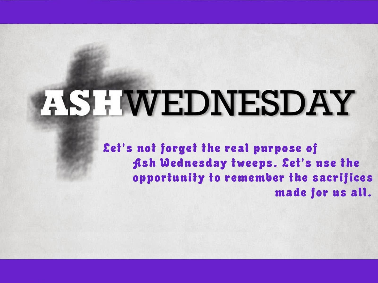 Ash Wednesday 2018 Greetings