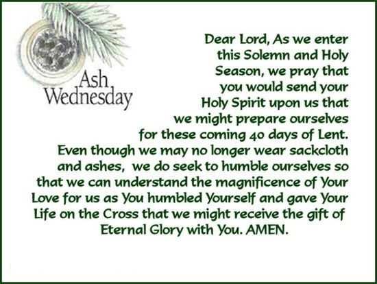 Ash Wednesday 2018 Sayings