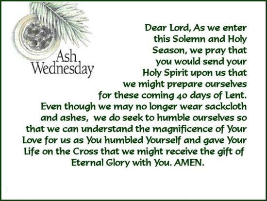 Ash Wednesday 2018 Sayings