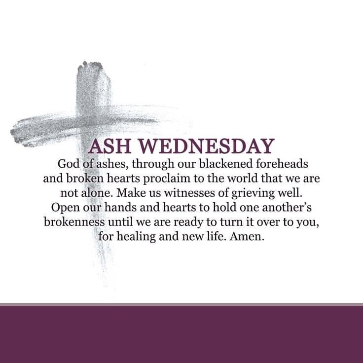 Ash Wednesday Poem Holy Lent